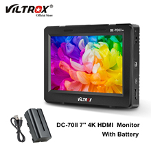 Viltrox DC 70 II 7 بوصة HD كاميرا شاشة عرض فيديو عرض جهاز المراقبة الميدانية 1024*600 شاشة الكريستال السائل HDMI AV المدخلات مع بطارية للكاميرا