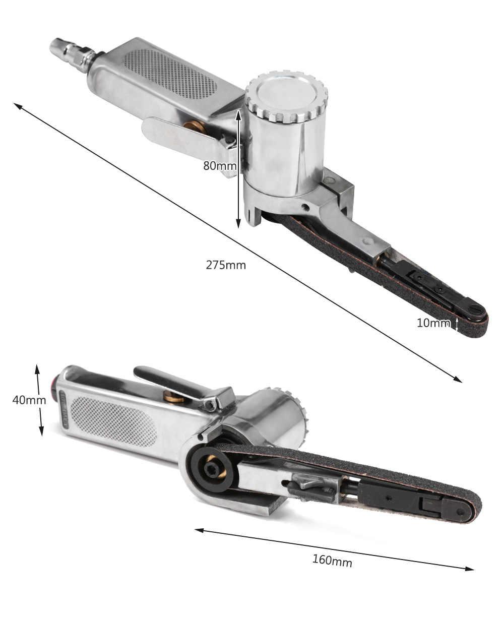 """3/8 """"الهواء حزام ساندر الدقة تلميع أداة جلخ ماكينة الطحن 2 الرملي أحزمة ضاغط الهواء الرملي الهوائية أداة"""