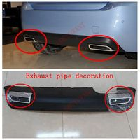 For Peugeot 308 2014 2015 High Quality ABS chrome Tail Exhaust Muffler Tip End Pipes Decoration Tail Pipe 2pcs/set
