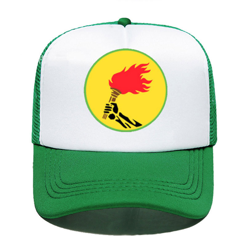 ZAIRE FLAG Democratic Republicof The Congo Souvenir Funny Women Men Unisex Parent-child Hats Mesh Visor Outdoor Sun Hat