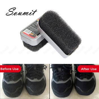 Zamszowa szczotka do czyszczenia butów usuń brud czyste buty zamszowe nubukowe aksamitne torby skórzane buty szczotki do pielęgnacji obuwia narzędzia do polerowania tanie i dobre opinie Soumit CN (pochodzenie) Clean shoes Plastic+PU+sponge Zestaw do pielęgnacji obuwia Suede Shoe Brush Black White Women Men