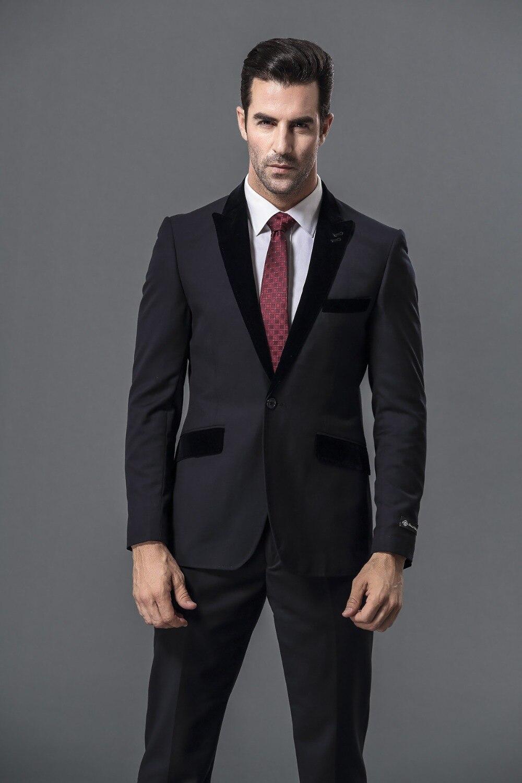 Men Wedding Groom Suit Black Formal Wear 2020 Tailor Suits Wool Bleed