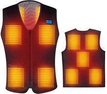 Homens aquecido colete ao ar livre parka casaco usb bateria elétrica aquecimento casacos com capuz inverno quente jaqueta térmica navio em 24 horas