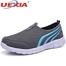 UEXIA Shoes for Men Summer Mesh Men Sneakers Lace Up Low Top