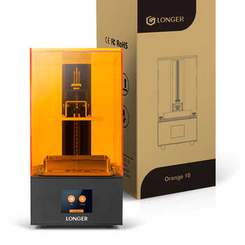 LONGER LCD 3D Printer Affordable Orange10 SLA 3D Printer Smart Support Fast Slicing Technology-Award-Winning UV Resin Printer