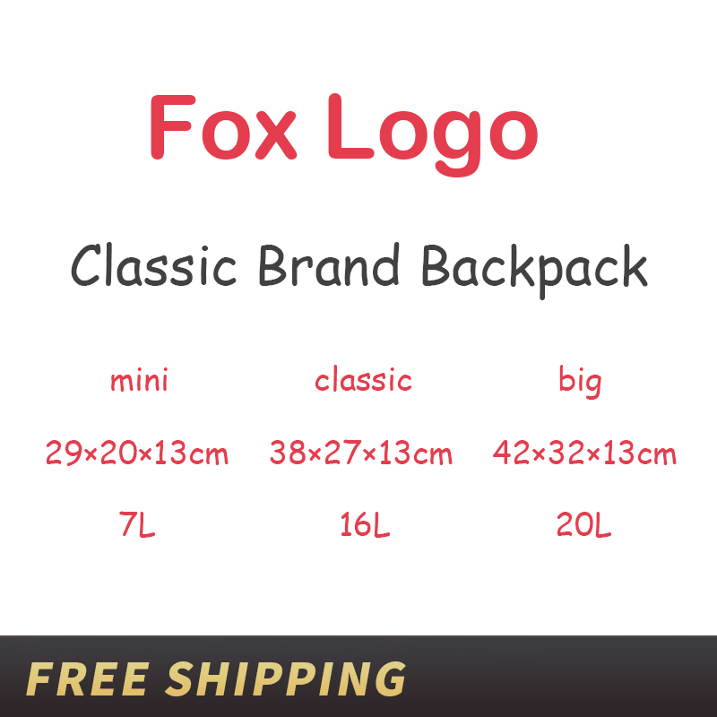 Fashion Laptop Travel Bags Classic Original Brand Fox Backpack Men Women Waterproof Backpacks Teenage Students Schoolbag Mochila image