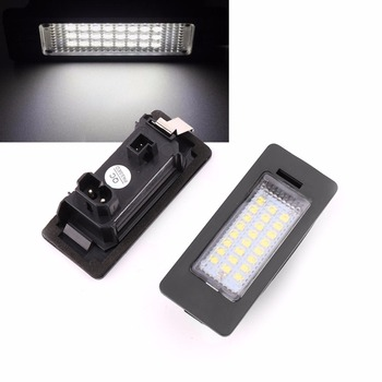 2pcs Error Free 24-LED License Plate Light For BMW E90 M3 E92 E93 E70 E39 F30 E60 White 6000K led light Lamp 2018 image