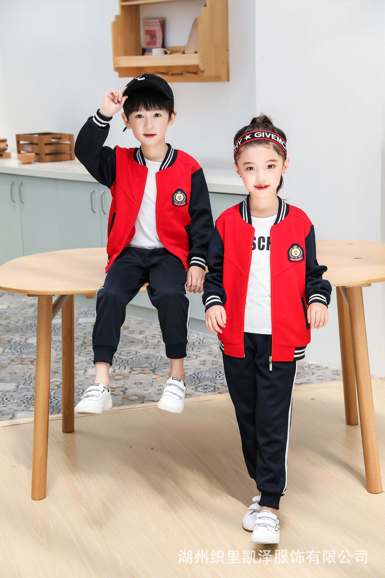 2019 Autumn Clothing Men And Women Young STUDENT'S Long Sleeve School Uniform Kindergarten Sports Set Spring And Autumn Taipan G