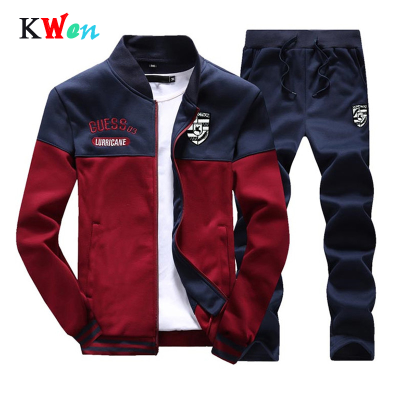 Fashion New Arrival Sporting Suit Men Spring And Autumn Casual Sweatshirt+Sweatpants Two Pieces Tracksuit Men Slim Tracksuit