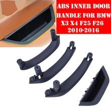LHD RHD Beige Black Car Left Right Interior Door Handle Inner Door Panel Handle Pull Trim Cover For BMW X3 X4 F25 F26 2010-2017