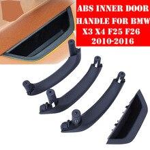 LHD RHD Beige Black Car Left Right Interior Door Handle Inner Panel Pull Trim Cover For BMW X3 X4 F25 F26 2010-2017
