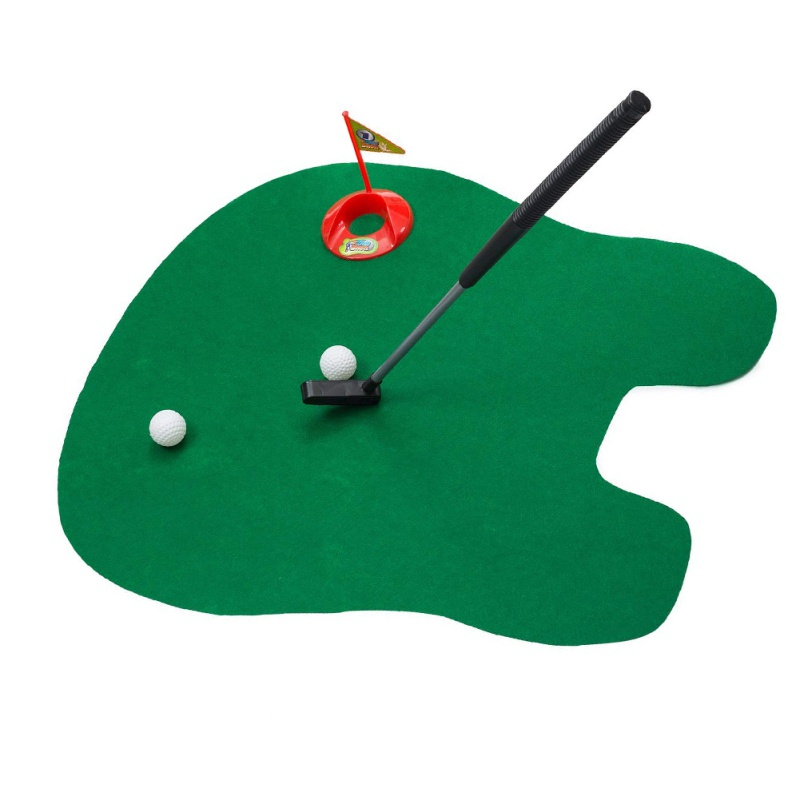 1 Set Putter Golf Game Mini Golf Set Toilet Putting Green Novelty Game Hig Quality For Men Women Practical Jokes New