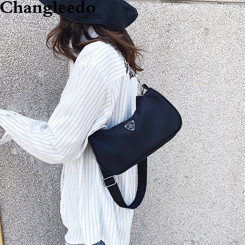 Women Crossbody Bag Causal Luxury Handbags Women Bags Designer Nylon Vintage Small Chain Shoulder Bag Ladies Totes Bolso Purse