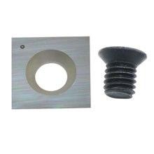 15mm quadrado carboneto de tungstênio substituição cortador inserções para carpintaria espiral cabeça plaina helicoidal e torno ferramentas torneamento 1pcs