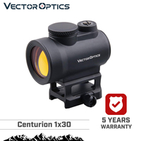 Vector Optics Centurion 1x30 Tactical 3 MOA AR Red Dot Sight Scope Wide Angle Field Of View 20000 Hours Runtime High Quality