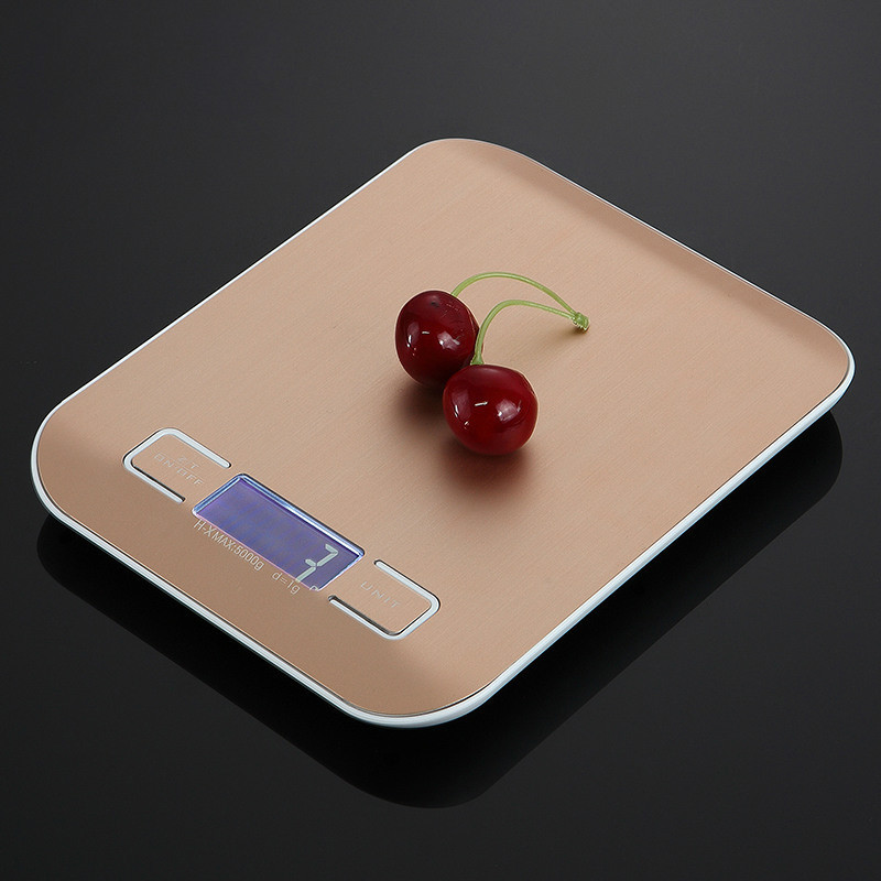 10kg Household Kitchen Scale Electronic Food Scales Diet Scales Measuring Tool Slim LCD Digital Electronic Weighing Scale