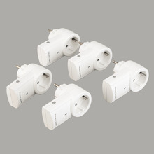 цена на 5 Wireless Remote Control Switches Mains Socket with Remote Control Electrical Plugs Adaptors Power Outlets EU Plug Hot Selling