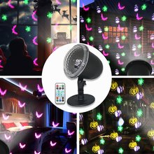 Festive Projection Lamp Led Christmas Halloween Projection Lamp Hd Pattern Holiday Decoration Lawn Garden Projection Lamp logo projection lamp 10w 20w 35w led advertising pattern projection indoor outdoor waterpoof display gobo customize pilot lamp