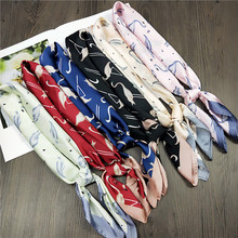 New Small Square Scarf Women 's Spring and Autumn Summer All -match Korean -Style Neckerchief