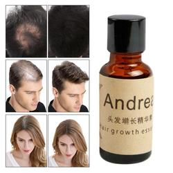 Andrea alopecia para crescimento de cabelos, essencial para crescimento rápido do cabelo, queratina de ervas, líquido de gengibre, queimadura de sol, brilhante, óleo pilatório