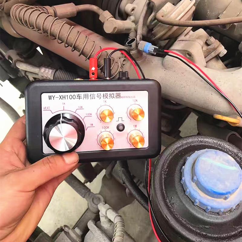 Automobile Auto Signal Simulator Tester Tool Can Adjust Resistance Water Temperature Crankshaft With Enlish Manual