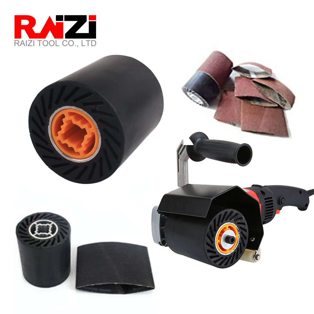 Raizi 90*100 Mm Sander Wheel Expansion Roller For Flat&Tube Belt Sander Polisher Sanding Belts Abrasive Sleeves Wheel