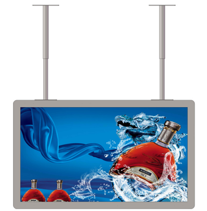 Shop Mall Window Restaurant Advertising Player Ceiling Mounting Lcd Display Retail Window Ad Lcd Display