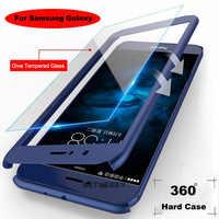 Funda completa de 360 grados para Samsung Galaxy G530 9082 note 5 4 3 A310 A510 resistente a golpes duro funda con vidrio