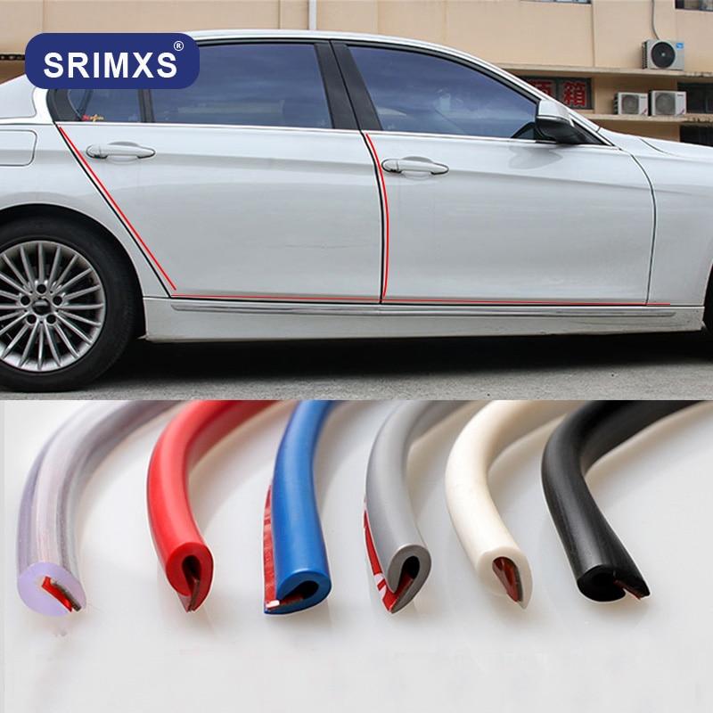 2M Clear Car Door Moulding Rubber Scratch Protector Strip Edge Guard Trim DIY