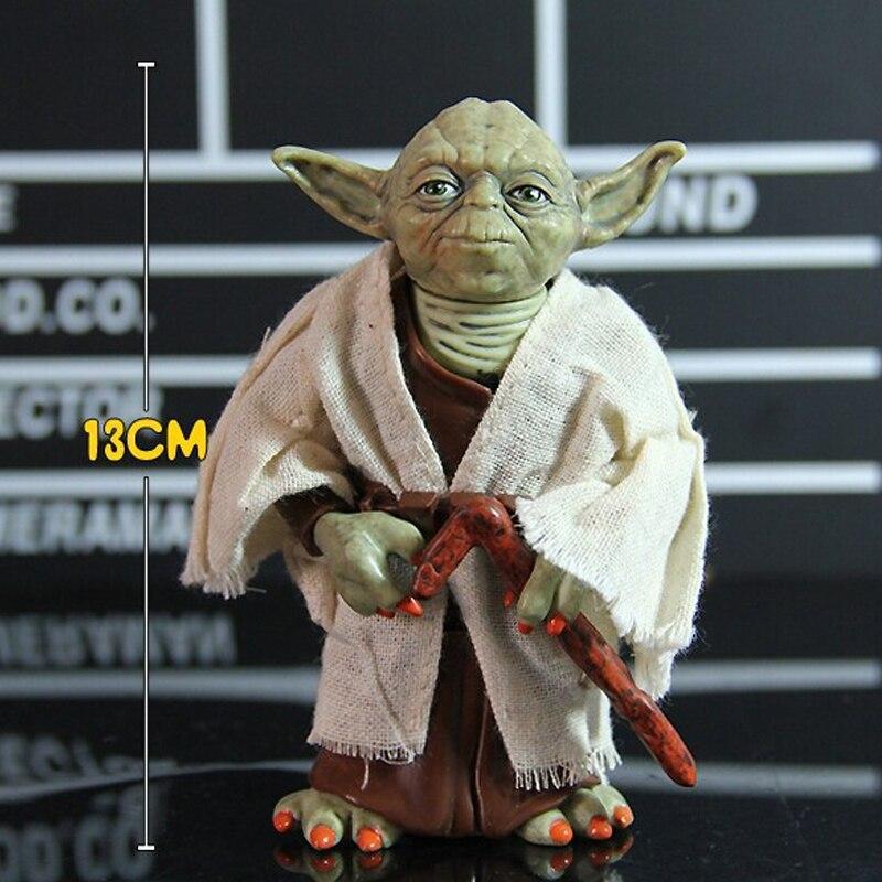 12cm Star Wars Jedi Knight Master Yoda PVC Action Figure Collectible Marvel Star Wars Yoda PVC Model Doll Kids Brinquedos 3