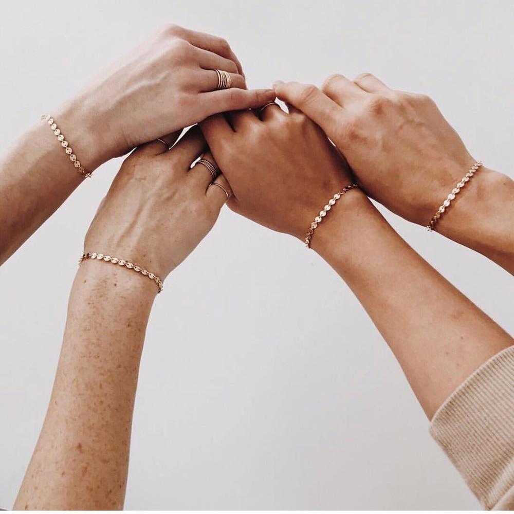 eManco Not Fade Adjustable Stainless Steel Bracelet Ankle Bracelets for women Best Friend Dainty Bracelet Wholesale Jewelry