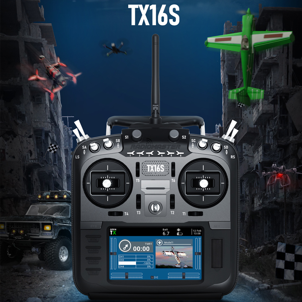 RadioMaster TX16S/TX16S Hall TBS 2.4G 16CH Multi-protocol RF System OpenTX Mode2 Remote Control RC Transmitter For RC Drone Part