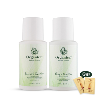 Natural Organica Smell Jasmine fragrance 100ml shape Booster +100ml Smooth Booster Hydrolyzed Keratin Hair Treatment Set