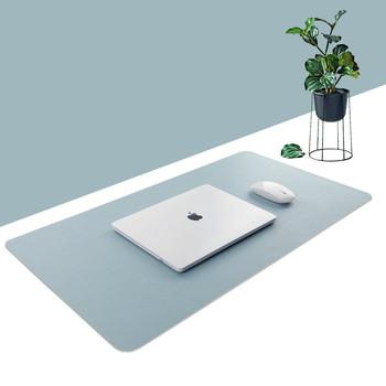 Duża podkładka pod mysz dwustronnie użytkowa przenośna podkładka pod mysz gamingową Laptop Pad PU skórzane biurko Pad Grand Mat Gamer Muismat 60 #215 30 80x40cm tanie i dobre opinie CN (pochodzenie)