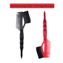 Salon Diy Two-Color Double-Sided Hair Dyeing Brush Beauty Salon Dye Mixing Brush Barber Toning Handle Comb Tool