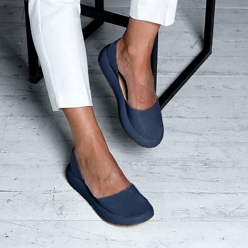 Female Sandals Shoes Back-Strap Slip-On Confort Low-Flat Peep-Toe Women's Summer New