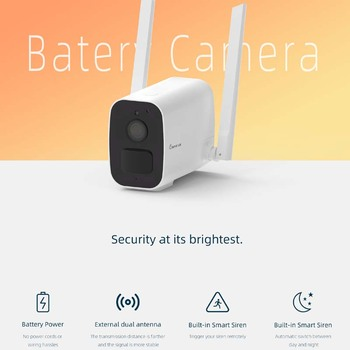 Keeper L18 WIFI Battery Camera HD 1080P IR Night Vision Out Door CCTV Security Camera 2 Way Intercome Waterproof Wide Angle Lens new 1 3inch mini lens 1 7 mm ultra wide angle fish eye view for cctv ir hd ahd tvi 1080p wireless network night vision camera
