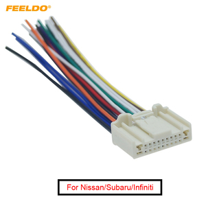 FEELDO 1Pc Car Audio Stereo Wiring Harness Adapter Plug For Nissan For Subaru/For Infiniti OEM Factory Radio CD #AM3995