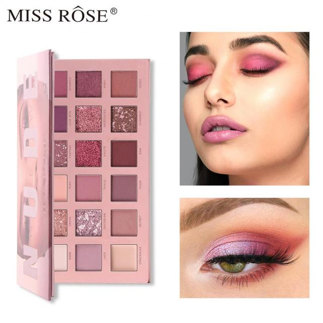 NEW 18 Colors nude eyeshadow pallete matte eye shadow makeup pallete Pigment Cosmetics waterproof glitter eyeshadow TSLM1 1