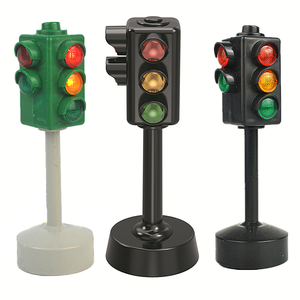 Mini Traffic Signs Road Light Block with Sound LED Children Safety Education Kids Puzzle Traffic Light Toys Boys Girls Gifts