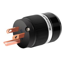 Monosaudio مقبس طاقة التيار المتردد M100/F100 ، إصدار أمريكي ، نحاس نقي ، Hifi ، موصل صوت ، موصلات IEC ، نحاس نقي ، طاقة تيار متردد ، الولايات المتحدة
