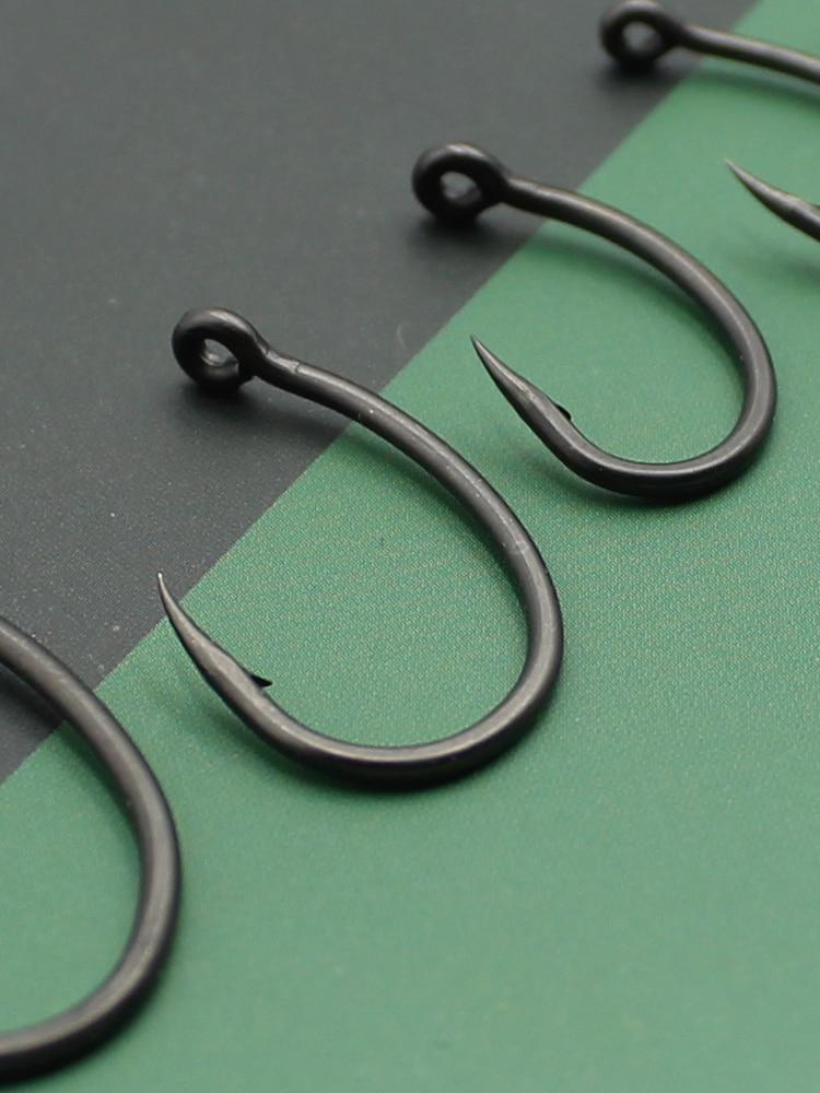 30pcs Coating Carp Hook Yn Fishing Tackles Tools for Carp Fishing H1