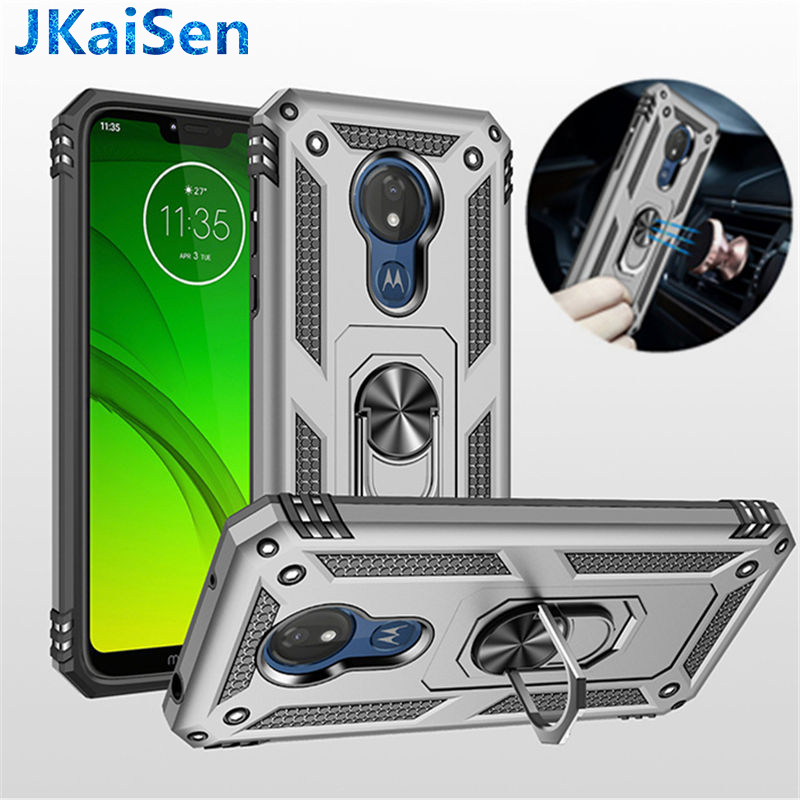 G6 Mini Q6 Plus Armor Dual Layer 2 in 1 Protection Case with Rotating Finger Ring Holder Kickstand Fit Magnetic Car Mount Color : Silver for Cellphone Cases /& Covers for LG Q6