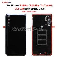 עבור Huawei P20 פרו P20 בתוספת חזור זכוכית סוללה כיסוי אחורי דלת קייס שיכון עבור Huawei P20Pro CLT AL01 CLT L29 כיסוי דיור