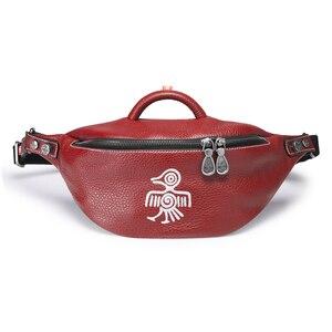 Image 5 - Orabird Streetwear dames poitrine sac doux en cuir véritable mode femmes bandoulière sacs à bandoulière petite taille sac à main téléphone sacs à main