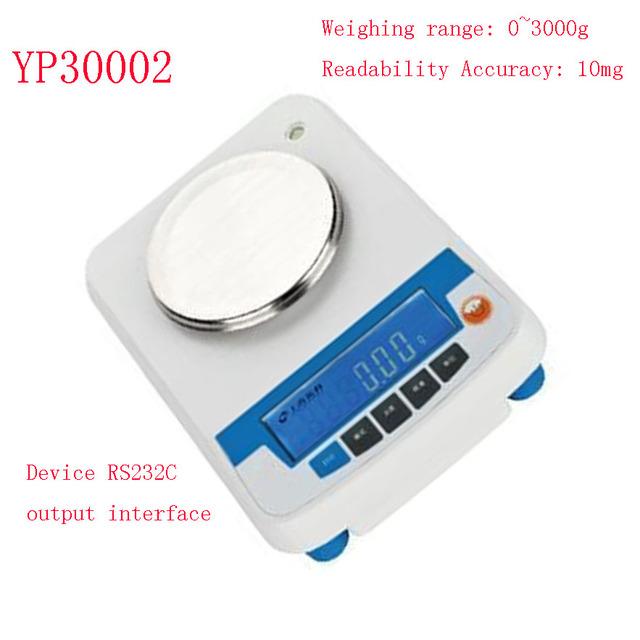 Precyzyjna waga cyfrowa LCD z zakresem ważenia od 0 do 2000g dokładność czytelności 10mg tanie i dobre opinie NoEnName_Null CN (pochodzenie) Bilans laboratorium 320X280X150mm YP30002-Rita 0-3000g Other 0~3000g AC and DC dual purpose