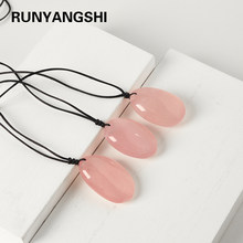 1PC Natural Pink Stone Rose quartz Crystal Pendants for Trendy Jewelry Making DIY Necklace woman gifts