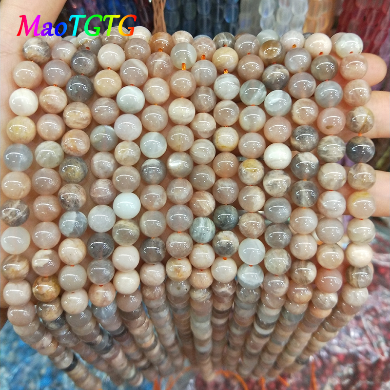 Wholesale Natural Sun stones Beads For Jewelry Making Bracelet Necklace 6/8/10mm Natural Stone DIY Beads Jewelry Making