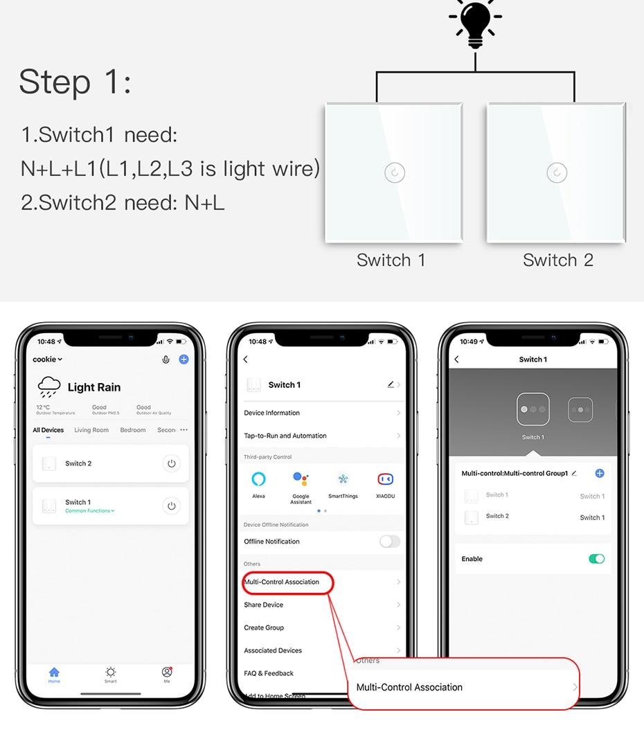 painel vidro peças branco inteligente toque interruptores