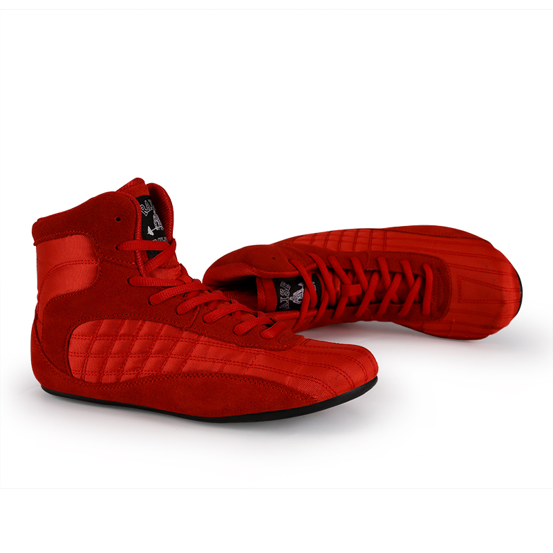 Professional Boxing Wrestling men Shoea Anti-Slip Fighting Weightlifting Shoes Male Genuine Leather Training Fighting Boots
